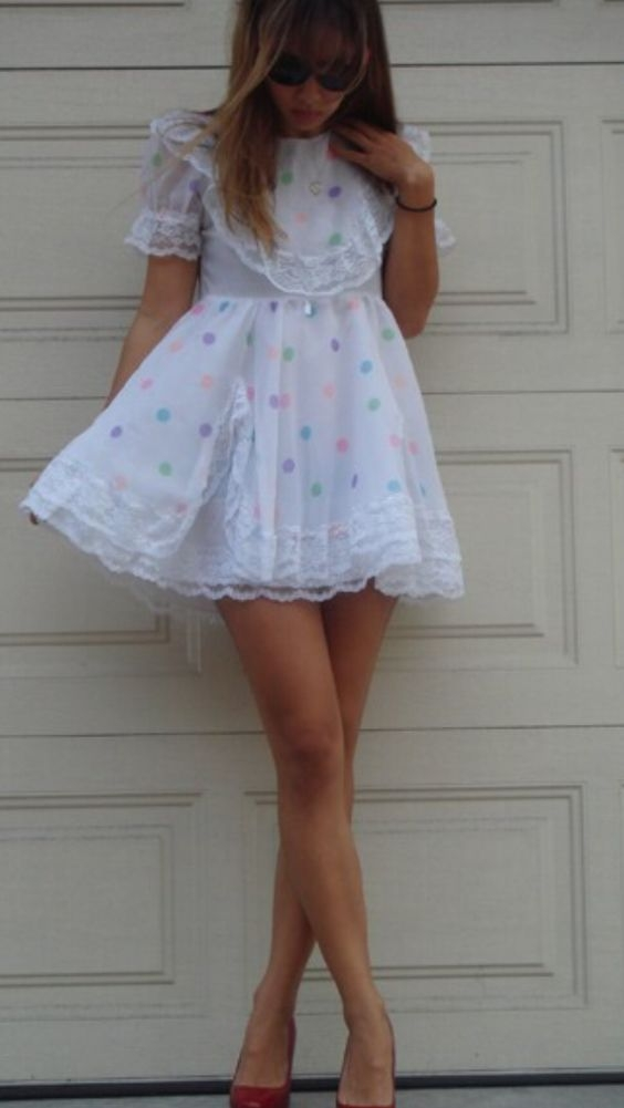 A bit shy in the open..... - Sissy Dress, Sissy Dress, Sissy Fashion