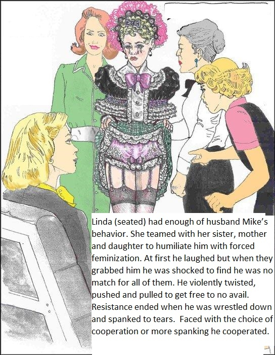 Taught a Lesson - He was humiliated by wife, mother-in-law & step daughter, femdom spanking sissy wife, Feminization,Dominating Mistress Or Master,Spankings,Bad Boy To Good Girl,Dolled Up
