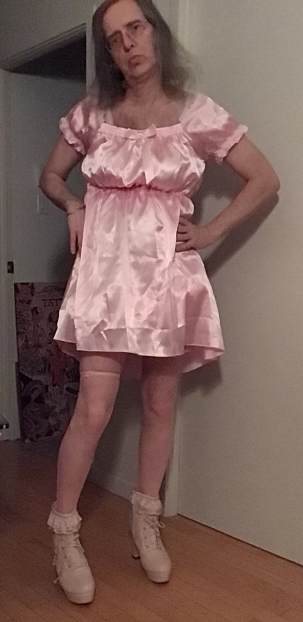 Pink 💖 - Love pink, Pink,satin, Dolled Up,Sissy Fashion