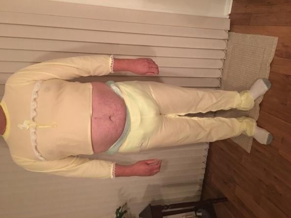 SISSY PJ's  - Wearing sissy fleece PJ's, diapers, and plastic panties., Sissy pajamas,diapers,plastic pants , Adult Babies,Sissy Fashion,Diaper Lovers