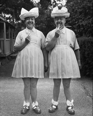 Vintage sissy twins photo - Vintage photo of 2 sissy's , Sissy twins, Sissy Fashion