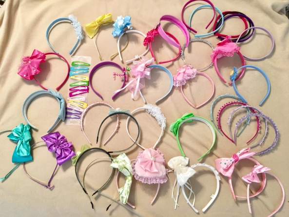 Ain't Enough!  - Some of my hair bands, and barrettes, Hair bands, Adult Babies,Sissy Fashion