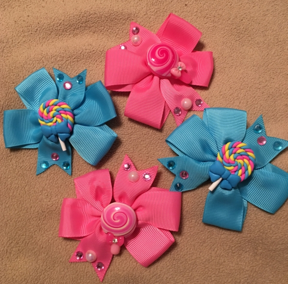 Lollipop bows - New hair bows for me., Hair bows, Adult Babies,Sissy Fashion