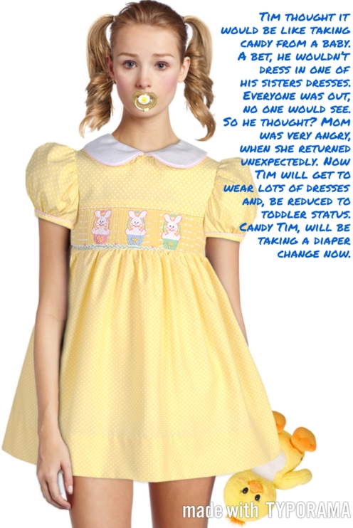 Tim's bet gone wrong - Be carful with your bets., Sissy dress, Adult Babies,Sissy Fashion,Diaper Lovers
