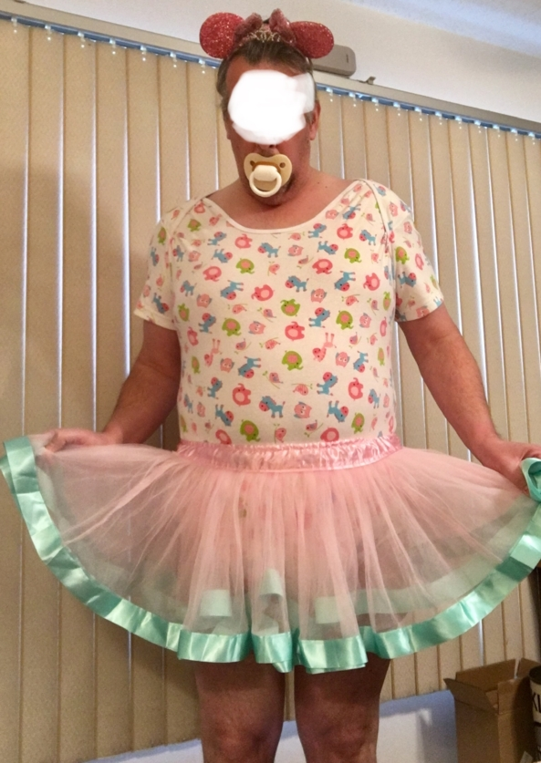 Sissy Dance Skirt - Mommy might want sissy to dance.Onesie, skirt, thick cloth diapers, and nice pink plastic panties! , Sissy dance skirt, Adult Babies,Sissy Fashion,Diaper Lovers