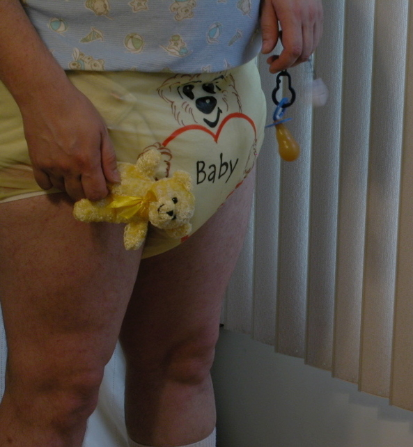THEODORE FRANKLYN BEAR & FRIEND. - Just some fun with my bear., Diapers,onesie,frilly panties , Adult Babies,Sissy Fashion,Diaper Lovers
