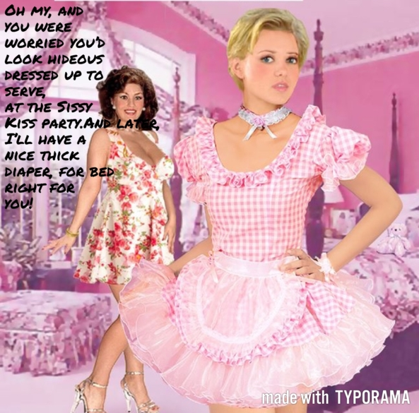 TO SERVE SISSY KISS MAN - Just something fun., Sissy, Sissy Fashion,Diaper Lovers