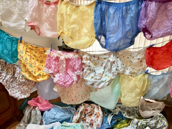 PLASTIC PANTIES  - Some of my plastic panties for fun., Plastic panties , Adult Babies,Diaper Lovers