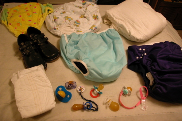 AB TID BITS - Just some things I put together, to make a nice picture., Diaper, Adult Babies,Diaper Lovers
