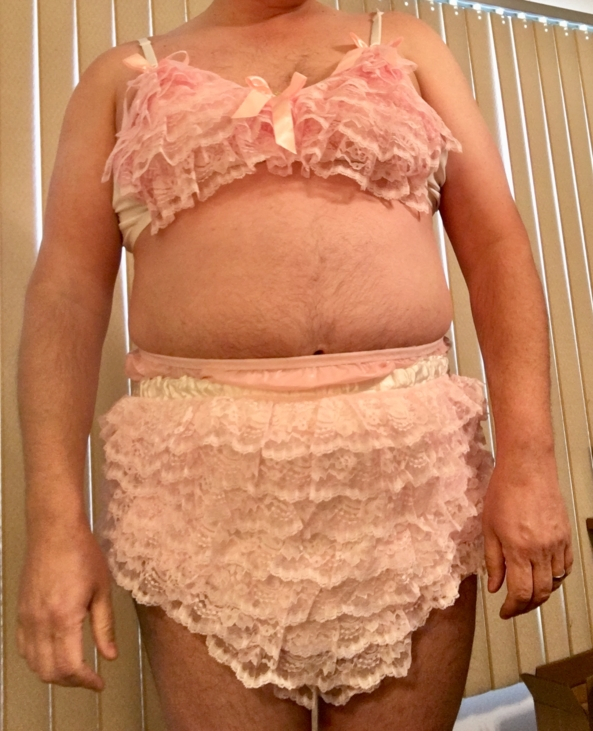 Frilly Training Bra & Diaper Cover - My new training bra, and old diaper cover, Training bra,diaper cover, Adult Babies,Diaper Lovers,Sissy Fashion