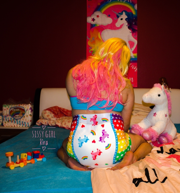 Pony Pride  - Me , Pony and My Pride Diaper , Pony,Diaper,Pride,Sissy, Diaper Lovers,Adult Babies,Feminization,Sissy Fashion,Wetting The Bed