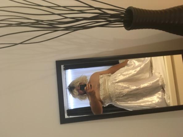 mornings in white satin, sissy,dress,satin, Feminization